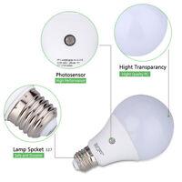 E27 Dusk To Dawn Smart Led Light Bulb Energy Save Automatic Sensor 9w Ball Lamps