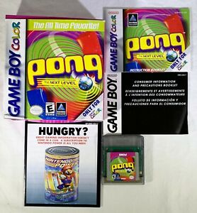 Pong-The-Next-Level-Nintendo-Game-Boy-Color-1999-CIB-Complete-Very-Nice