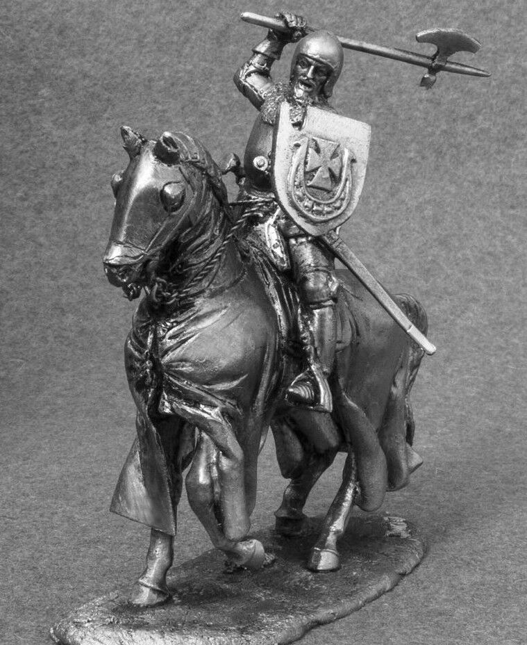 Toy Soldiers Polish Knight Cavalry 1 32 Figures Tin Metal Miniature