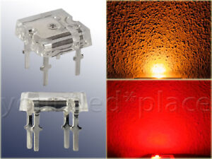 SuperFlux-LED-5mm-140-Blau-Rot-Gruen-Gelb-Weiss-UV-Pink-Flachkopf-Piranha-Quality