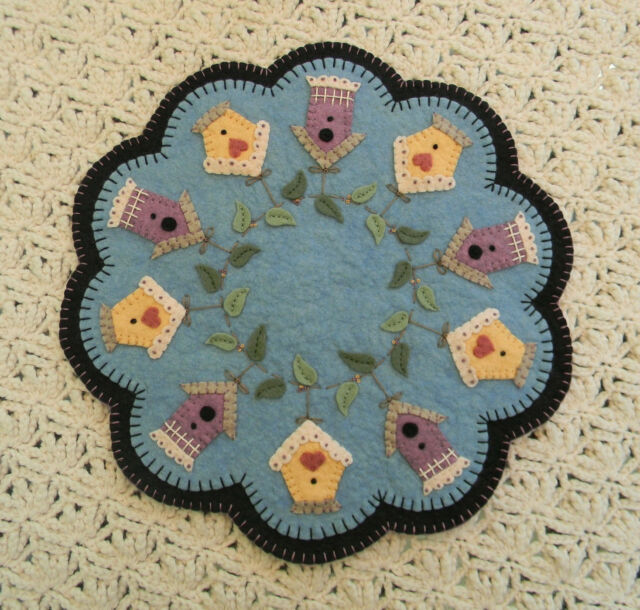 Primitive Wool Felt Candle Mat Penny Rug Kit Embroidery