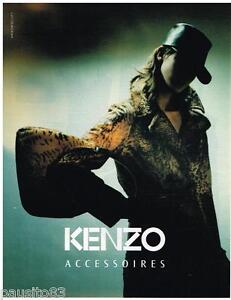 PUBLICITE ADVERTISING 105  2002  KENZO  accessoires collection sac