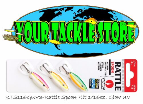 VMC RTS Rattle Spoon Kit 3 baits on one card 1//16 or 1//8 You Pick Size Color/&Qty