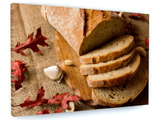 Sliced Bread Food Kitchen Bakery Canvas Picture Print Wall Art B557