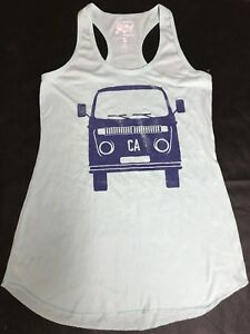 d7df8639fbce3 Local Pride by Todd Snyder CA VW Bus tank top Teal racerback Size ...