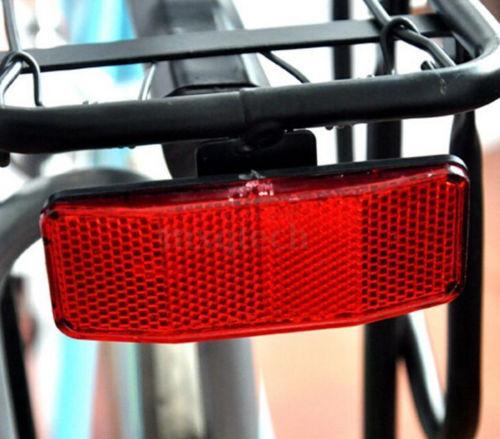 DZ837 Bicycle Bike MTB Safety Caution Warning Reflector Disc Rear Pannier Rack ✿