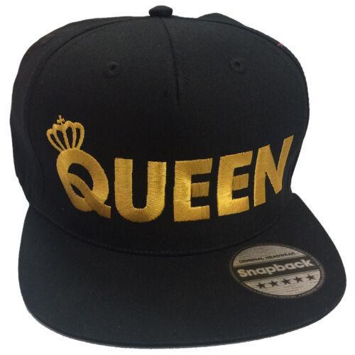 King queen paire brodé rappeur cap set-flat peak snapback fashion chapeaux