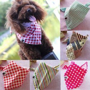 Verstellbar-Haustier-Hund-Katze-Bandana-Schal-Slide-am-Kragen-Dreieck-Halstuch