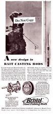 1930 Vintage ad Bristol Steel Fishing Rods