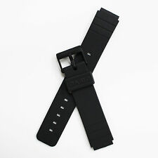 Brand New Casio MQ24CC MQ24 Mens Black Resin Rubber 16mm Replacement Watch Band