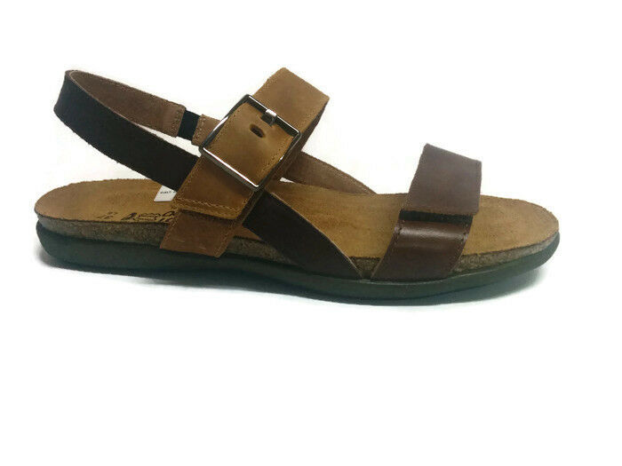 Naot Nora donna Sandals Leather scarpe scarpe scarpe Flat Wedge Strap New Slides Open Toe c5502a