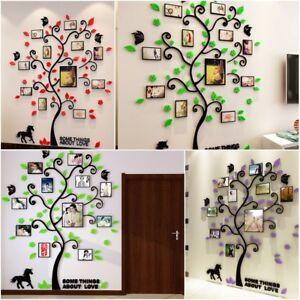Details zu Groß Acryl Pflanze 3D Foto Wand Baum Rahmen Wandtattoo  Wandaufkleber Wohnzimmer