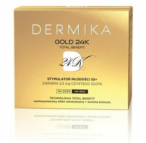 Dermika Gold 24K Total Benefit krem 55+/ Luxury cream youth stimulator