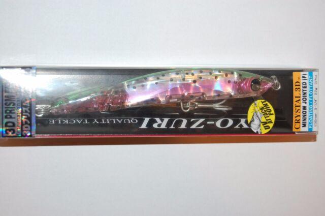 """Yo-Zuri Crystal Minnow Floating R1123-HNM Rainbow Trout 90mm 3 1//2/"""" Lure"""