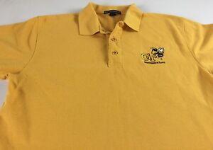 Georgia-Tech-Yellow-Jackets-Polo-Shirt-Mens-Medium-Yellow-Gold-Residence-Life