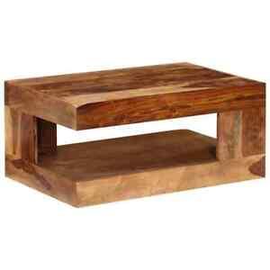 Vidaxl Table Basse Rectangulaire Bois Solide De Sheesham Table De