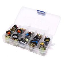 Wh148 Potentiometer Kit 15mm Linear Taper Rotary Resistor Set 3pin With Cap Aj