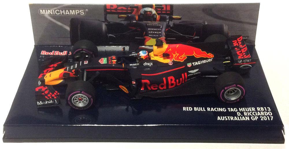 Minichamps rosso Bull RB13 Daniel Ricciardo Australiano GP 2017-escala 1 43