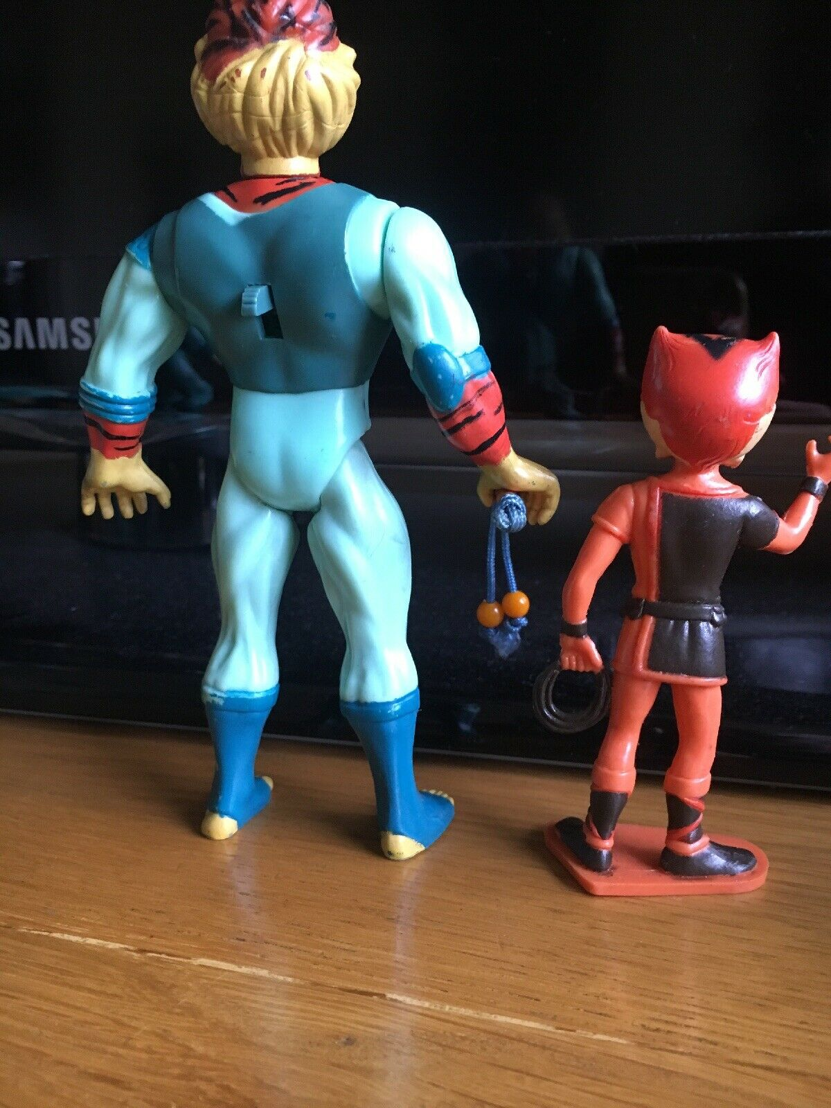 Extremely Rare Thundercats Vintage Vintage Vintage Young Tygra & wilykat Figures 1985 Complete 58b34d