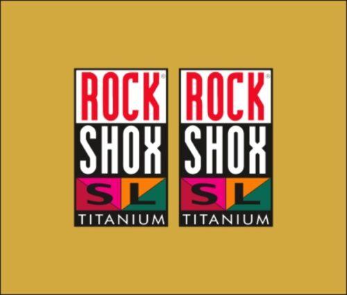 SUSPENSION DECAL SET ROCK SHOX SL TITANIUM FORK