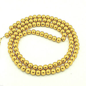 100-Piece-Glass-Wax-Beads-8-MM-Gold-Metallic-Glazed-Glass-Beads