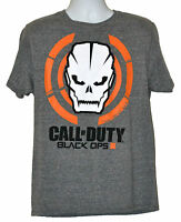Call Of Duty Black Ops Iii T-shirt Activision Skull Graphic Tee Gray