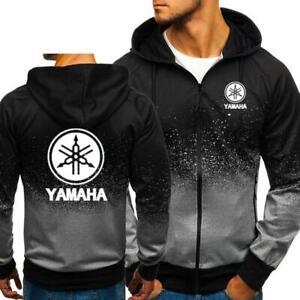 Genuine Yamaha Official Zip Print Dark Side Of Japan Hoodie Jacket New