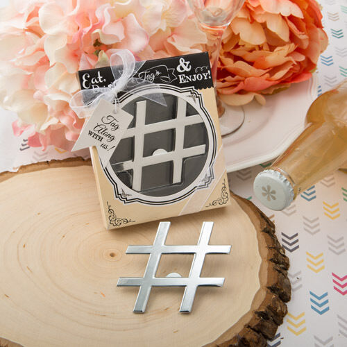 FC-4231 /'Hashtag Love/' collection chrome finish silver metal bottle opener