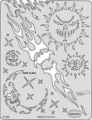 Son of SkullMaster by Craig Fraser Artool Airbrush Stencil Nite & Day Iwata