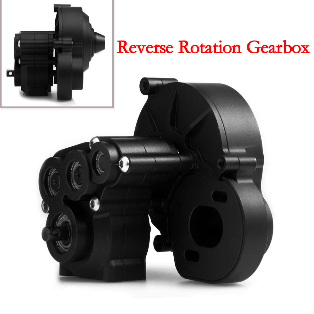 1 10 RC Aluminum Reverse redation Transmission Center Gearbox for AXIAL SCX10