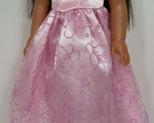 PINK Cinderella Princess Dress TIARA Doll Clothes For 14 AG Wellie Wishers Debs