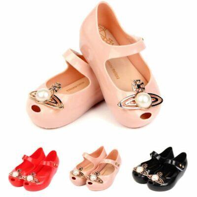Mini Melissa Big Pearl Saturn Girls Jelly Shoes Neptune Sandals Kids EUR21-29