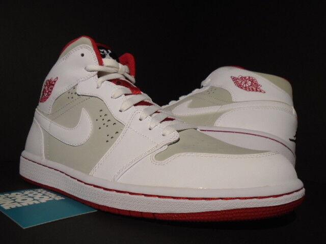 2009 NIKE AIR JORDAN I RETRO 1 HARE BUGS BUNNY Gris blanc rouge OG 374454-011 9