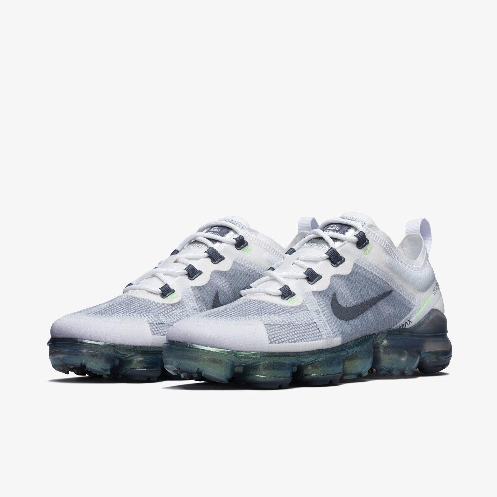 5385176ba NIKE Air VaporMax 2019 Premium AT6810-100 White Platinum Tint Mens shoes