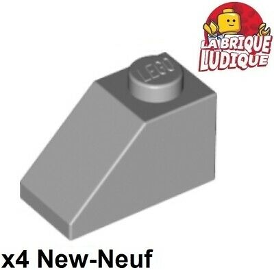 New LEGO Lot of 4 Light Bluish Gray 2x2 Curved Slope Specialty Pieces