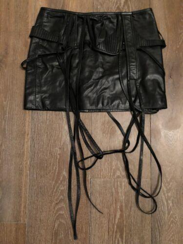 2k Mini 38 Original Chalayan Early Collectors 6 Biker Skirt 8 Hussein Black 90's HqzZ0qxw