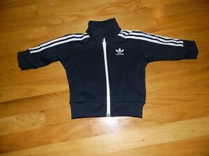 26a0c5608 Toddler ADIDAS Boy s TRACK JACKET sz 12 months Polyester Full Zip-Up ...