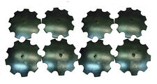 18 Notched Disc Harrow Blades Scalloped Heavy Duty 1 Or 1 18 Sq Lot Of 8