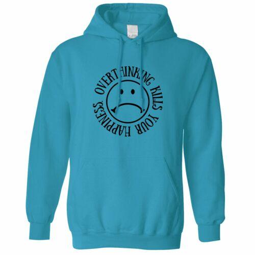 Overthinking Hoodie It Kills Your Happiness Sad Face Acid Smile Logo