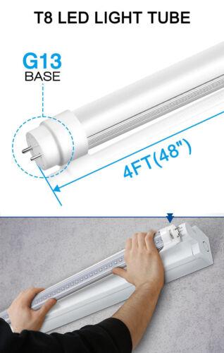 50 PACK LED G13 4FT 4 Foot T8 Tube Light Bulbs 18W 6500K MILKY LENS Fluorescent
