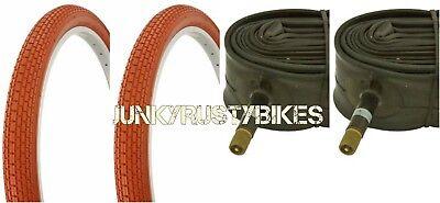 "26x2.125/"" ORANGE BEACH CRUISER BIKE BICYCLE SMALL BRICK FITS SCHWINN S2"