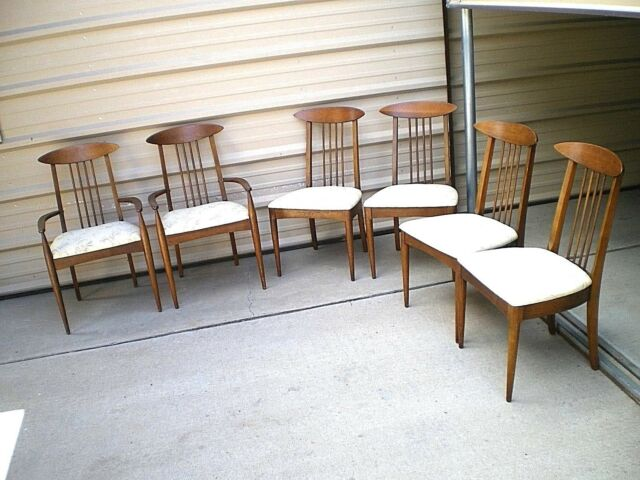 Astounding Vtg Broyhill Premier Sculptra Mid Century Modern Mcm Danish Style Dining Chairs Ibusinesslaw Wood Chair Design Ideas Ibusinesslaworg