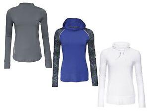 Damen-Laufsportarten-Funktionsshirt-Sportshirt-Shirt-Langarm