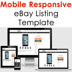 Ebay Listing Template Mobile Responsive Auction Compliant - Ebay product listing template