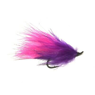 Trout Steelhead 4 x Purple Peril Fly Fishing Streamer Wet Flies For Salmon