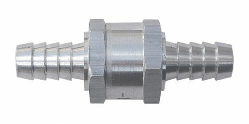 Aluminium Non Return Valve 6//8//10//12mm Fuel One Way Petrol Diesel Hose Water
