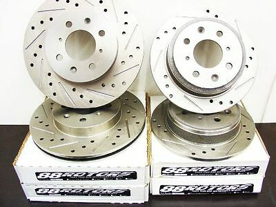 For Nissan 240SX FRONT /& REAR DRILLED AND SLOTTED PERFORMANCE BRAKE ROTORS