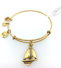 Alex and Ani Sailboat Expandable Wire Bangle Bracelet in Rafaelian Gold