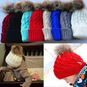 65750030b5492 La imagen se está cargando Bebe-Nino -Invierno-Calido-De-Tejer-Sombrero-Crochet-