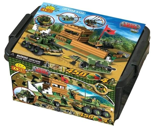 Construction SetsSmtutti Army  450 Piece Jungle Base Military Units Tub Cons...